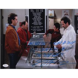"""Larry Thomas Signed """"Seinfeld"""" 11x14 Photo Inscribed """"You Just Cost Yourslef a Soup"""" """"No Soup For Yo"""