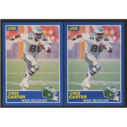 Lot of (2) 1989 Score #72 Cris Carter RC