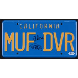 "Cheech Marin  Tommy Chong Signed ""Up In Smoke"" California License Plate (Beckett COA)"