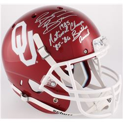 "Brian Bosworth Signed Oklahoma Sooners Full-Size Helmet Inscribed ""1985 National Champs""  ""85-86 But"