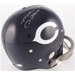 Mike Ditka Signed Bears Throwback Suspension Full-Size Helmet (JSA COA)