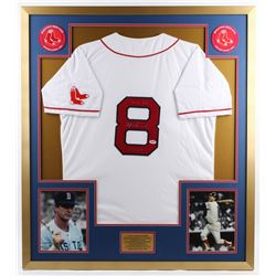 "Carl Yastrzemski Signed Red Sox 34x38 Custom Framed Jersey Display Inscribed ""TC 67""  ""HOF 89"" (PSA"