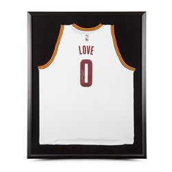 Kevin Love Signed Cavaliers 32x38 Custom Framed Jersey (UDA)