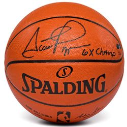 "Scottie Pippen Signed LE NBA Game Ball Series Basketball Inscribed ""6x Champ"" (Panini COA)"