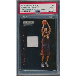 2009-10 Rookies and Stars Dress for Success Materials #6 Stephen Curry (PSA 9)