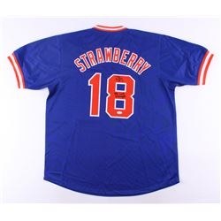 """Darryl Strawberry Signed Mets Jersey Inscribed """"86 WS Champs"""" (JSA COA)"""