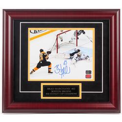 Brad Marchand Signed Bruins 2011 Stanley Cup Champions 16x18 Custom Framed Photo Display (YSM COA  B