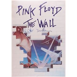 "Roger Waters  David Gilmore Signed Pink Floyd ""The Wall"" 25x35.5 Poster (JSA LOA)"