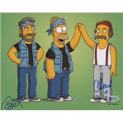Marin Cheech  Tommy Chong Signed 'The Simpsons' 8x10 Photo (Beckett COA)