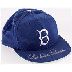 Pee Wee Reese Signed Brooklyn Dodgers American Needle Fitted Hat (JSA COA)