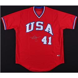 Mark McGwire Signed Team USA Olympic Jersey (MLB Hologram  Online Authentics Hologram)