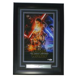 "Daisy Ridley Signed Star Wars ""The Force Awakens"" 16"" x 23"" Custom Framed Movie Poster Display (PSA"