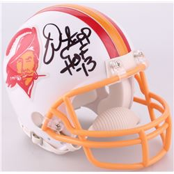 "Warren Sapp Signed Buccaneers Throwback Mini-Helmet Inscribed ""HOF 13"" (JSA COA)"