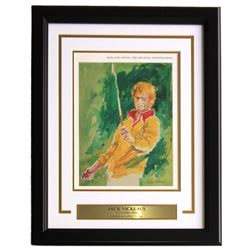 "Leroy Neiman ""The Golden Bear"" 16x20 Custom Framed Print Display"