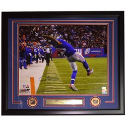 Odell Beckham Jr. Signed Giants 22x27 Custom Framed Photo Display (JSA COA)