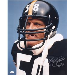 "Jack Lambert Signed Steelers 16x20 Photo Inscribed ""HOF '90"" (JSA COA)"