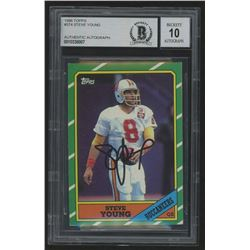 Steve Young Signed 1986 Topps #374 (Beckett Encapsulated)