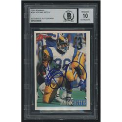 Jerome Bettis Signed 1993 Bowman #264 (Beckett Encapsulated)