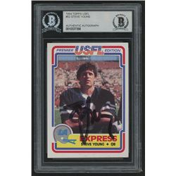Steve Young Signed 1984 Topps USFL #52 Rookie Card (Beckett Encapsulated)