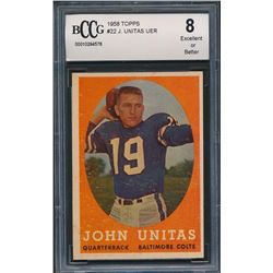 1958 Topps #22 Johnny Unitas (BCCG 8)