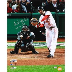 "Mike Lowell Signed Red Sox 16x20 Photo Inscribed ""07 WS MVP"" (MLB Hologram)"