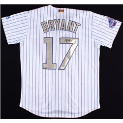 Kris Bryant Signed Cubs Jersey With 2016 World Series Patch (JSA Hologram)