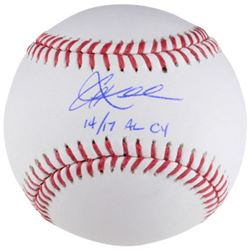 """David Ortiz Signed OL Baseball Inscribed """"This is our F'n city"""" (Fanatics)"""