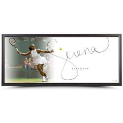 """Serena Williams Signed """"Forehand"""" 20x46 Photo Framed Display (UpperDeck)"""