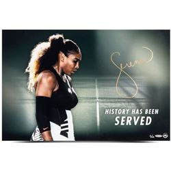 """Serena Williams Signed LE """"History Has Been Served"""" 20x24 Photo  (UpperDeck)"""