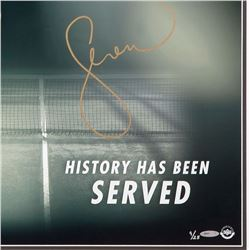 """Serena Williams Signed LE Framed """"History Has Been Served"""" 20x24 Photo Display (UpperDeck)"""
