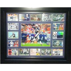 Tom Brady LE Patriots 20x24 Custom Framed Display with 2000 Fleer Autographics Rookie Autograph Card