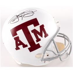 Johnny Manziel Signed Texas AM Aggies Helmet (JSA COA)