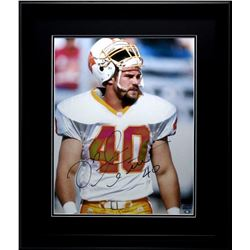 Mike Alstott Signed Buccaneers 23x27 Custom Framed Photo Display (Radtke COA)
