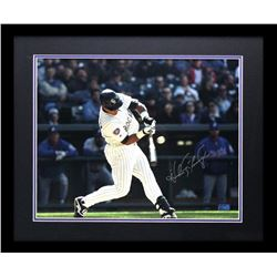 Andres Galarraga Signed Rockies 23x27 Custom Framed Photo Display (Radtke COA)