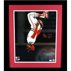 "Ozzie Smith Signed Cardinals 23x27 Custom Framed Photo Display Inscribed ""The Wizard"" (JSA  Hologram"