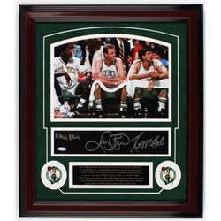 Larry Bird, Kevin McHale  Robert Parish Signed Celtics 19.25x20.25 Custom Framed Photo Display (Stei