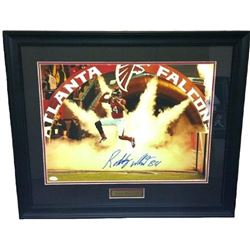 Roddy White Signed Falcons 23x27 Custom Framed Photo Display (JSA Hologram)