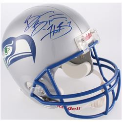 Brian Bosworth Signed Seahawks Full-Size Throwback Helmet (JSA COA)