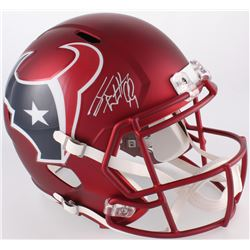 J.J. Watt Signed Texans Blaze Full-Size Speed Helmet (JSA COA  Watt Hologram)