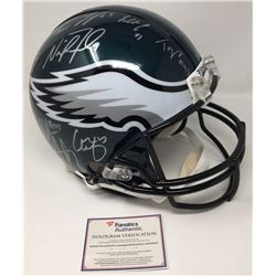 2017 Philadelphia Eagles Authentic On-Field Full-Size Helmet Team-Signed by (20) with Nick Foles, Fl