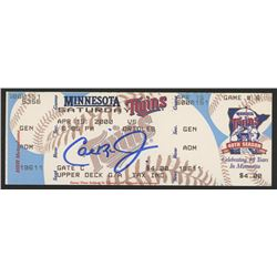 Cal Ripken Jr. Signed Orioles vs. Twins Unused Ticket (FSC Hologram)
