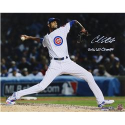 "Carl Edwards Jr. Signed 16x20 Photo Inscribed ""2016 WS Champs"" (MLB Hologram  Fanatics Hologram)"
