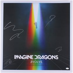 "Imagine Dragons ""Evolve"" 24x24 Band-Signed Lithograph with Dan Reynolds, Ben McKee, Wayne Sermon  Da"