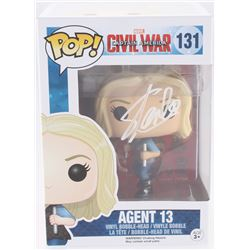 "Stan Lee Signed ""Agent 13"" #131 Captain America: Civil War Marvel Funko Pop Bobble-Head Vinyl Figure"