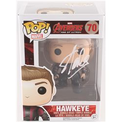 "Stan Lee Signed ""Hawkeye"" #70 Avengers: Age of Ultron Marvel Funko Pop Bobble-Head Vinyl Figure (Rad"
