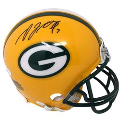 Davante Adams Signed Packers Mini Helmet (JSA COA)