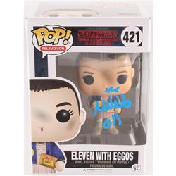 "Millie Bobby Brown Signed ""Eleven"" #421 Stranger Things Funko Pop Vinyl Figure Inscribed ""011"" (JSA"