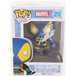 "Stan Lee Signed ""X-Men Deadpool"" #20 Marvel Funko Pop Bobble-Head Vinyl Figure (Radkte Hologram  Lee"