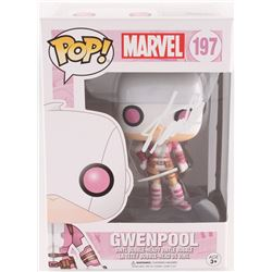 "Stan Lee Signed ""Gwenpool"" #197 Marvel Funko Pop Bobble-Head Vinyl Figure (Radkte COA  Lee Hologram)"
