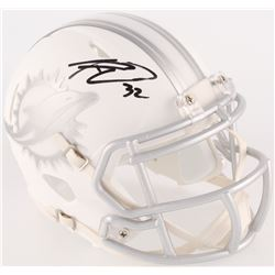 Kenyan Drake Signed Dolphins Custom Matte White ICE Mini Speed Helmet (Radtke COA)
